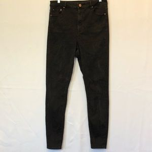 ASOS super high waisted black jeans size 32